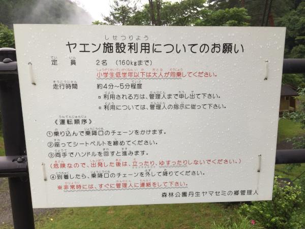 森林公園丹生ヤマセミの郷 野猿の利用の仕方